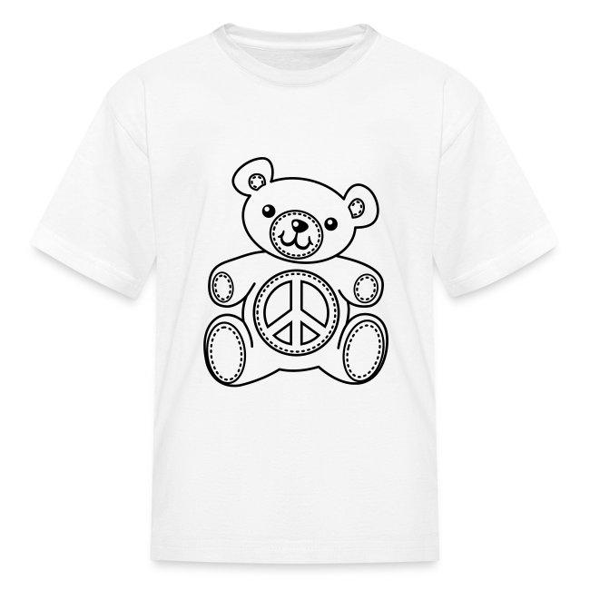 Coloring T-shirts | Teddy Bear Coloring T-shirt Kids Shirts - Kids T ...