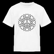 Kids' Shirts ~ Kids' T-Shirt ~ Hearts Flower Coloring T-shirt