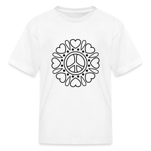 Hearts Flower Coloring T-shirt - Kids' T-Shirt