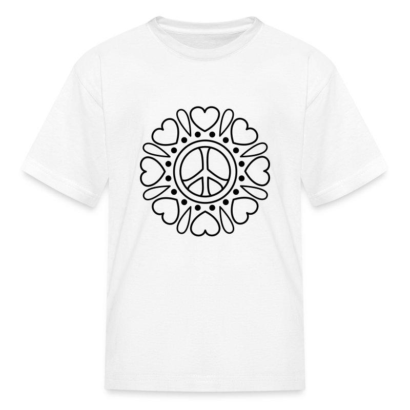 Hearts Flower Coloring T-shirt T-Shirt   Coloring T-shirts