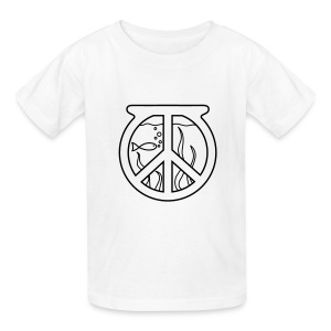 Fish Bowl Coloring T-shirt - Kids' T-Shirt