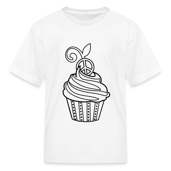 Coloring T-shirts | Cupcake Coloring T-shirt - Kids T-Shirt