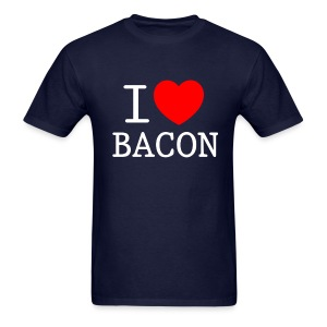 I LOVE BACON dark - Men's T-Shirt
