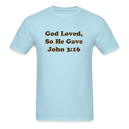 God Loves - Men's T-Shirt