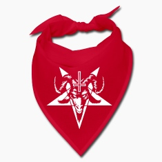 Satanic Goat Head with Pentagram (inverted) Caps