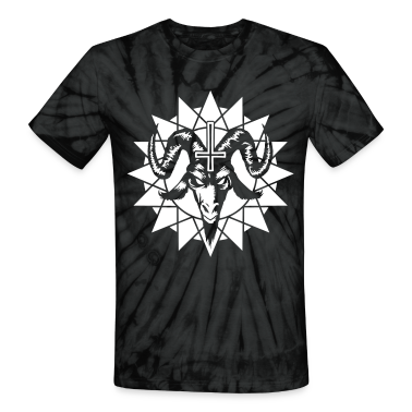 Satanic Goat Head with Chaos Star (inverted) T-Shirts