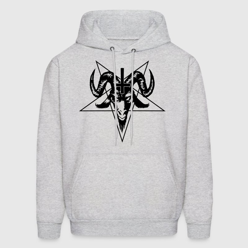 Satanic Goat Head with Pentagram Hoodies - Men's Hoodie