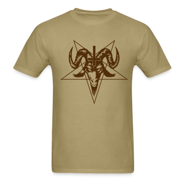 Satanic Goat Head with Pentagram T-Shirts