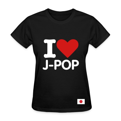 I ::heart:: J-Pop (womens)(percentage will go to the Japanese Red Cross)  - Women's T-Shirt