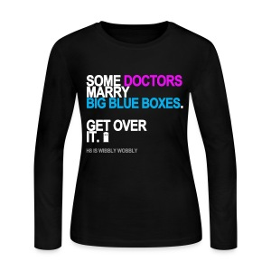 Some Doctors Marry Big Blue Boxes Long Sleeve - Women's Long Sleeve Jersey T-Shirt