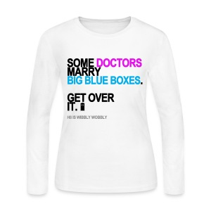 Some Doctors Marry Big Blue Boxes Long Sleeve White - Women's Long Sleeve Jersey T-Shirt