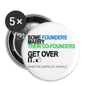 Some Founders Marry Co-Founders Button - Small Buttons