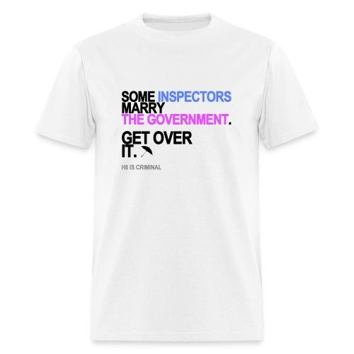 Some Inspectors Marry The Government Men's White - Men's T-Shirt