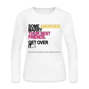Some Androids Marry Best Friends Tank White - Women's Long Sleeve Jersey T-Shirt