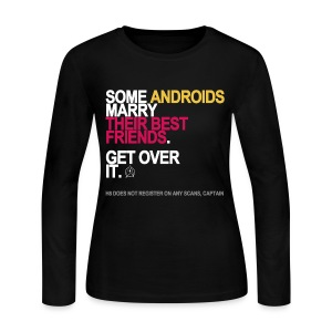Some Androids Marry Best Friends Long Sleeve - Women's Long Sleeve Jersey T-Shirt
