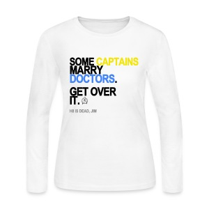 Some Captains Marry Doctors Long Sleeve White - Women's Long Sleeve Jersey T-Shirt