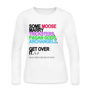 *GRAMMATICALLY CORRECT* Some Moose Marry Archangels Long Sleeve White - Women's Long Sleeve Jersey T-Shirt