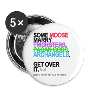 *GRAMMATICALLY CORRECT* Some Moose Marry Archangels Button - Small Buttons