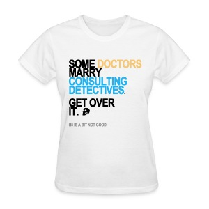 Some Doctors Marry Detectives Women's White - Women's T-Shirt
