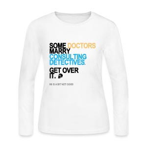 Some Doctors Marry Detectives Long Sleeve White - Women's Long Sleeve Jersey T-Shirt