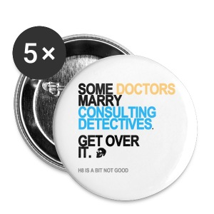 Some Doctors Marry Detectives Long Sleeve White - Small Buttons