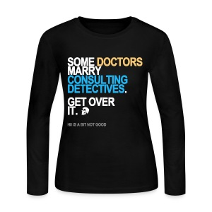 Some Doctors Marry Detectives Long Sleeve - Women's Long Sleeve Jersey T-Shirt