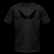 T-Shirts ~ Men's T-Shirt by American Apparel ~ LOA - fuzzy black on black!