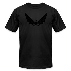 LOA - fuzzy black on black! - Men's Fine Jersey T-Shirt