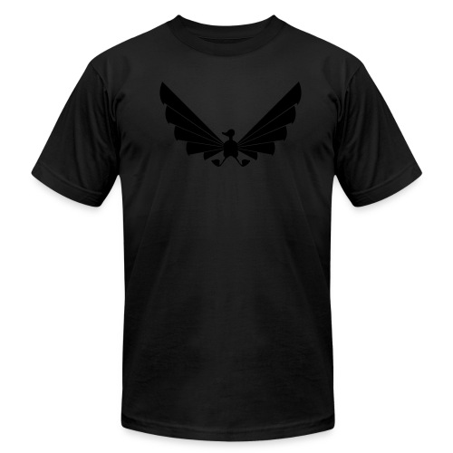 LOA - fuzzy black on black! - Men's Fine Jersey T-Shirt