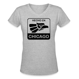 Hecho En Chicago Dark - Women's V-Neck T-Shirt