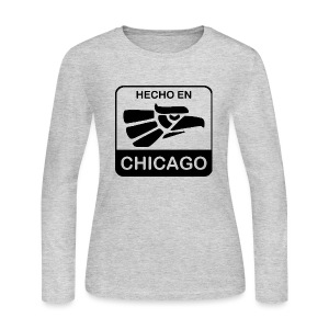 Hecho En Chicago Dark - Women's Long Sleeve Jersey T-Shirt