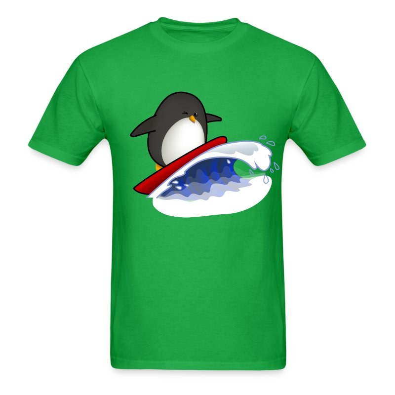 surfing penguin t shirt spreadshirt. Black Bedroom Furniture Sets. Home Design Ideas