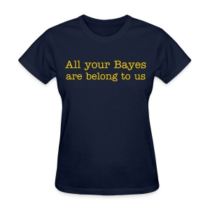 All your Bayes are Belong to Us - Women's T-Shirt