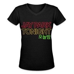[JAY] Oneulbam - Women's V-Neck T-Shirt