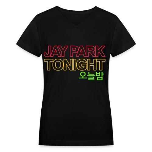 [JAY] Oneulbam - Women's V-Neck T-Shirt