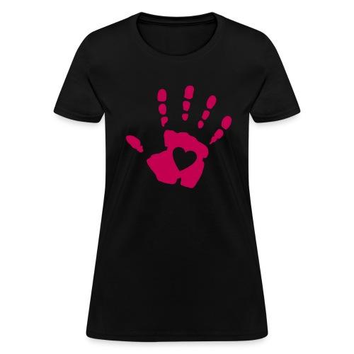 Pink Hand :: Women's Standard Weight T-Shirt - Women's T-Shirt