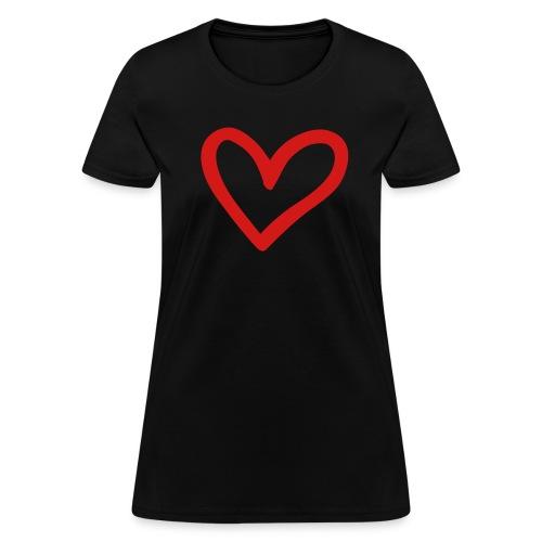 Heart :: Women's Standard Weight T-Shirt - Women's T-Shirt