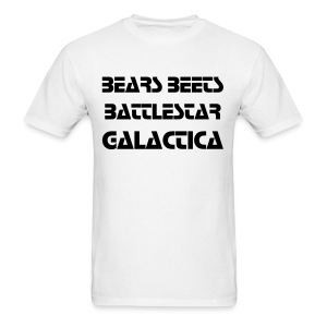 BEARS BEETS BATTLESTAR GALACTICA - Men's T-Shirt