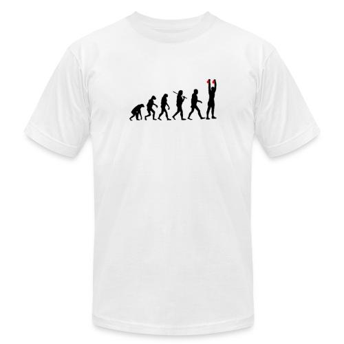 Evolution Kettlebell Double Press - Men's Fine Jersey T-Shirt