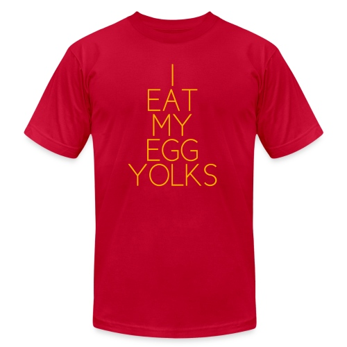 *AA* EGG YOLKS dark - Men's Fine Jersey T-Shirt
