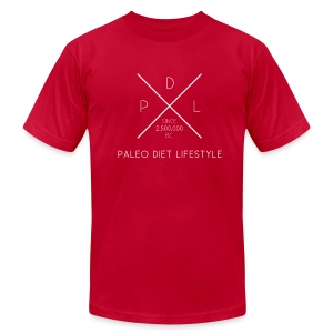 *AA* PALEO DIET LIFESTYLE dark - Men's T-Shirt by American Apparel