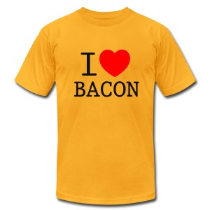 *AA* I LOVE BACON light - Men's T-Shirt by American Apparel