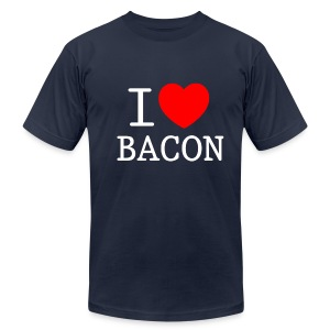 *AA* I LOVE BACON dark - Men's T-Shirt by American Apparel