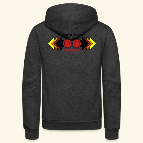 Fire Laser (back- and frontprint) - Unisex Fleece Zip Hoodie