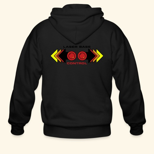 Fire Laser (back- and frontprint) - Men's Zip Hoodie