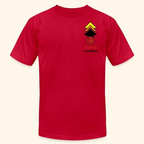 Fire Laser (back- and frontprint) - Men's Fine Jersey T-Shirt
