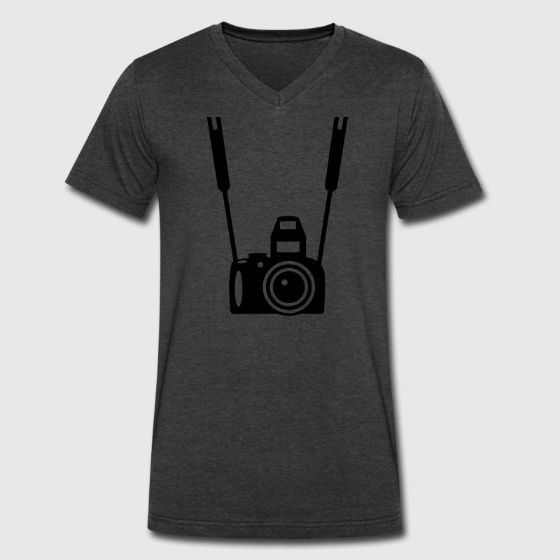 Photo Camera T-Shirts - Men's V-Neck T-Shirt by Canvas