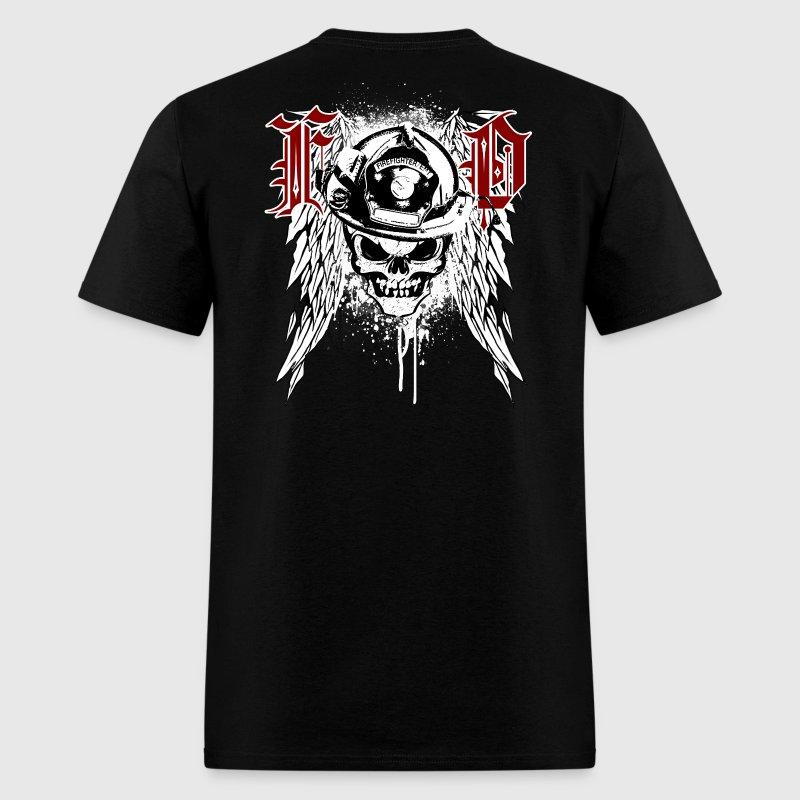 Fire dept skull t shirt spreadshirt for Fire department tee shirt designs