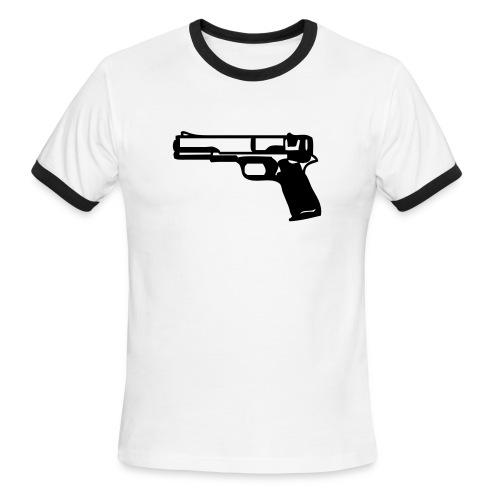 gun me - Men's Ringer T-Shirt