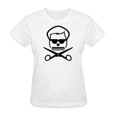 Hairdressers skull Women's T-Shirts
